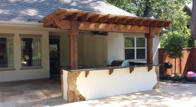 Outdoor Kitchen, Bar, and Pergola