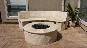 Fire Pit and Bench