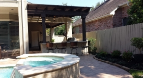 Pergola and Outdoor Kitchen Area