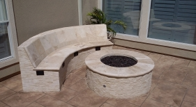 Custom Outdoor Seating and Fire Pit