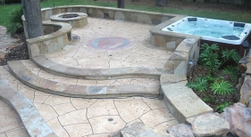 Custom Patio and Hot Tub