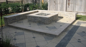 Fire Pit and Hardscaping