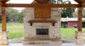 Fireplace and Patio Cover