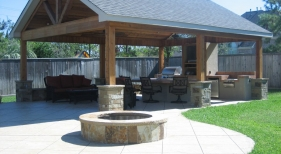 Pavillion and Fire Pit