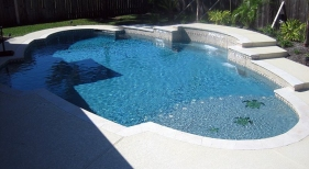Custom Pool with Custom Tanning Ledge