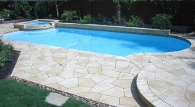 Custom Pool with Hardscaping