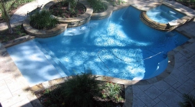 Custom Pool with Landscaping Overview