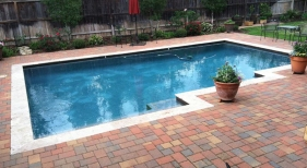 Geometric Pool with Hardscaping